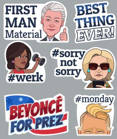 Viber and the Huffington Post Team up to Launch 2016 Presidential Campaign Sticker Pack (Photo: Business Wire)