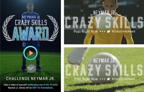 ネイマール Jr.選手と共演するプレイヤーを募集 ~NEYMAR JR. CRAZY SKILLS (写真:ビジネスワイヤ)