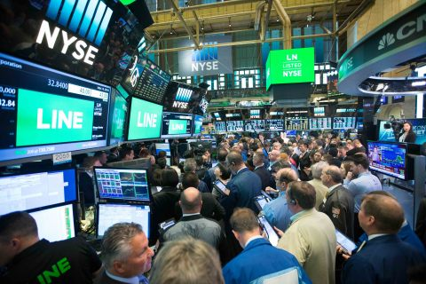LINE Corporation lists IPO on the NYSE. (Photo: NYSE)