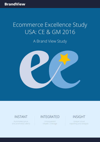 Brand View Publish Ecommerce Excellence Study: CE & GM USA 2016 (Photo: Business Wire)