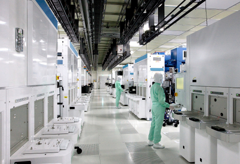 Toshiba Corporation and Western Digital Corporation cleanroom in semiconductor fabrication facility  ...
