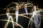 Professor Harald Haas (at second from left) and the pureLiFi team (Photo: Business Wire)