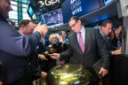 AdvancePierre Foods Holdings President and CEO John Simons rings the NYSE First Trade Bell to celebrate the company's IPO. (Photo: NYSE)