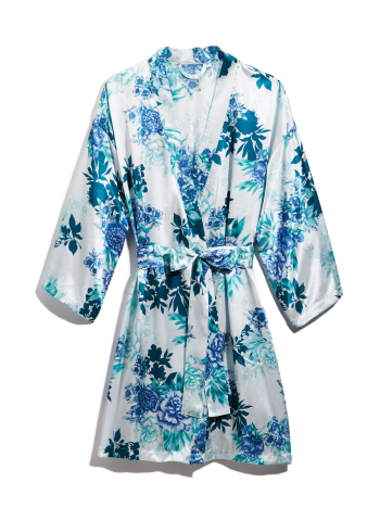 Thalia Sodi has expanded her Macy's collection with a line of intimates. Thalia Sodi Lagoon Aqua Print Wrap, $29.98, exclusively in Macy's stores and on macys.com (Photo: Business Wire)