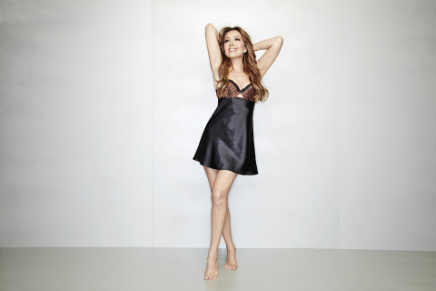 Thalia Sodi has expanded her Macy's collection with a line of intimates. Thalia Sodi Black Cheetah Print Chemise, $36.98, exclusively in Macy's stores and on macys.com (Photo: Business Wire)