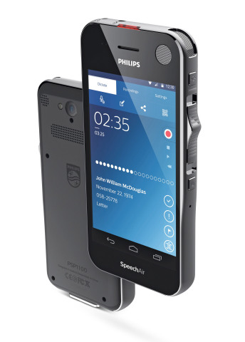 Philips SpeechAir smart voice recorder (Photo: Business Wire)