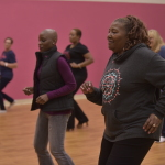 Ford Warriors in Pink 2016 Models of Courage participate in a dance class. This is an example of just one way to create #MoreGoodDays for those in the fight. (Photo: Business Wire)