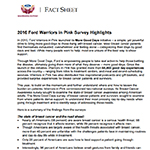 2016 Warriors in Pink Survey Fact Sheet
