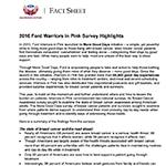 2016 Warriors in Pink Survey Fact Sheet