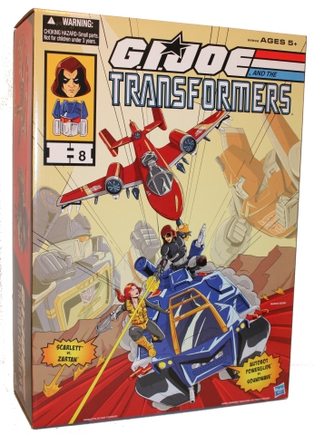 This G.I. JOE AND THE TRANSFORMERS Set is the continuation of a successful trilogy of San Diego Comic Con items. The collection features SCARLETT and ZARTAN action figures as well as AUTOBOT POWERGLIDE and SOUNDWAVE figures in an epic showdown. (Photo: Business Wire)