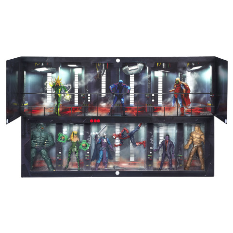 Prevent a prison break with this impressive 6-inch scale MARVEL LEGENDS SERIES set featuring some of the most notorious super villains in the Marvel Universe! Help SPIDER-MAN keep MARVEL's ENCHANTRESS, MARVEL'S PURPLE MAN, DREADKNIGHT, ABOMINATION, and MARVEL'S SANDMAN behind bars at THE RAFT. (Photo: Business Wire)