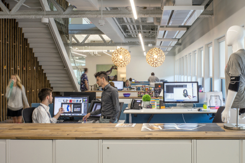 The 3M Design team explores new ways to bring collaborative creativity to life at the multi-level design studio at company headquarters in St. Paul, MN. (Photo: 3M)