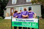 Wayfair employees helping out with a Habitat for Humanity build. (Photo: Business Wire).