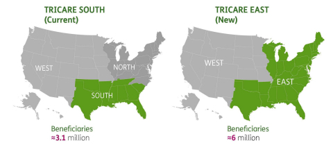 Humana footprint of TRICARE (Photo: Business Wire)
