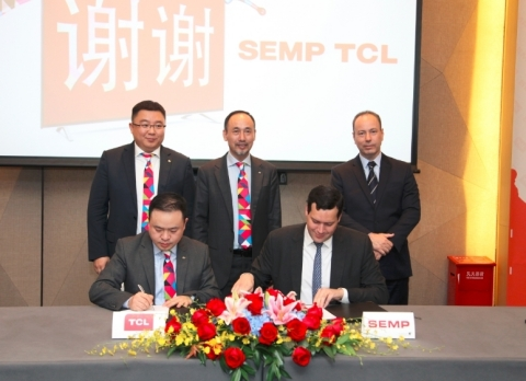 TCL Multimedia and SEMP Signed the MOU (Photo: Business Wire)