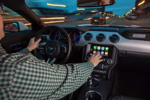 Ford continues to expand its SYNC 3 connectivity platform – allowing compatibility of Apple CarPlay, pictured, and Android Auto – throughout its entire 2017 U.S. vehicle lineup of cars, SUVs, light trucks and electrified vehicles. (Photo: Business Wire)