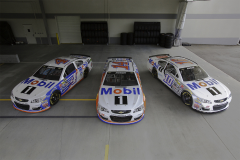 Mobil 1 fully primary sponsorships of Kevin Harvick, Danica Patrick and Tony Stewart for the Pennsylvania 400 NASCAR® Sprint Cup Series race. (Photo: Business Wire)