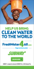 SUBWAY® gives customers opportunity to provide clean water to African village, pledges $125,000 donation. (Graphic: Business Wire)