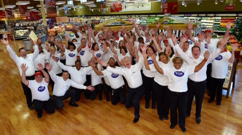 Winn-Dixie associates from Louisiana stores with tenures of 25 years or more celebrate alongside Southeastern Grocers' Chief Operating Officer Anthony Hucker (center) for the 60th Anniversary event. (Photo: Business Wire)