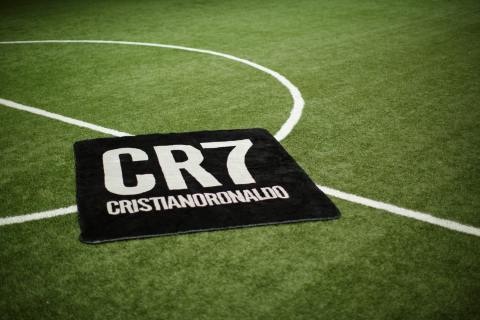 Cristiano Ronaldo's new exclusive line of signature CR7 luxury blankets. (Photo: Business Wire)