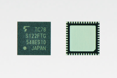 "Toshiba: bipolar 2-channel stepping motor driver ""TC78S122FTG"" (QFN package version) offering a maxi ..."