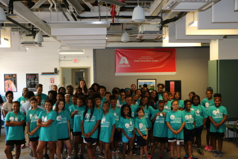 Serviam Girls Academy middle school students visit Axalta's Coatings Technology Center to learn about STEM careers and participate in hands-on activities. (Photo: Axalta)