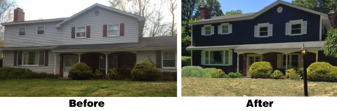 """Royal® Building Products Build Bold™ Contest """"Before and After"""" Exterior Home Makeover in Guilford,  ..."""