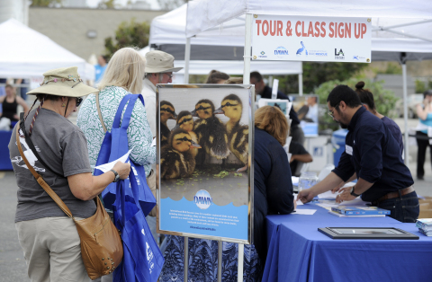 Dawn and members of the San Pedro, Calif. community come together to celebrate International Bird Re ...