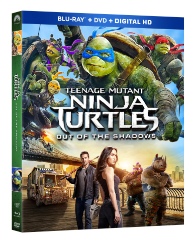 Cowabunga! Teenage Mutant Ninja Turtles: Out Of The Shadows arrives on 4K Ultra HD Blu-ray Combo Pack, Blu-ray Combo Pack & DVD September 20 and on Digital HD September 6 (Graphic: Business Wire)