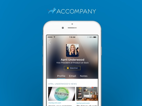 Accompany: your intelligent, adaptive chief of staff. (Photo: Business Wire)