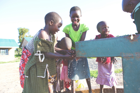 Children in rural Kenyan village of Kipsongol benefit from access to clean water through a donation of a borehole from Give H2OPE to Others – a collaboration between Walgreens, Unilever and ME to WE to provide access to clean water through select Unilever product purchases at Walgreens – in 2016. Last year's program helped donate more than 17.5 million gallons of clean water to this community. (Photo by ME to WE)