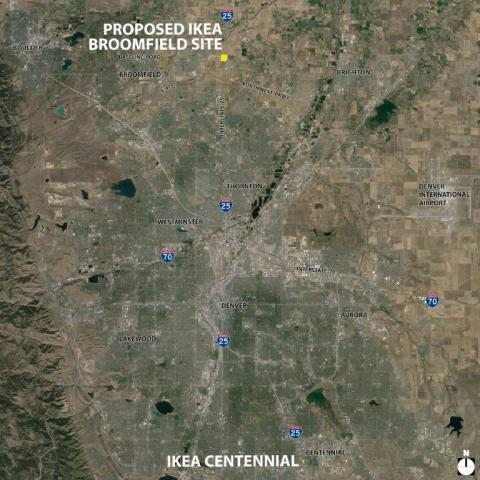Planning for the future, IKEA looks Northward to Broomfield, Colorado as potential location for second Denver-area store (Photo: Business Wire)