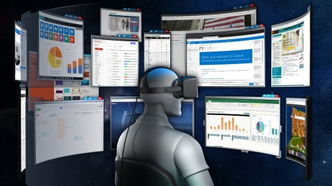 Envelop for Windows is the world's first fully immersive computing platform that enables all of your Windows applications while in virtual reality (Graphic: Business Wire)