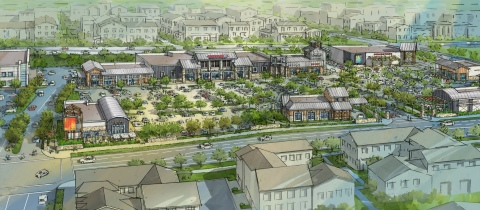 Rendering of The Village at Tustin Legacy (Graphic: Business Wire)