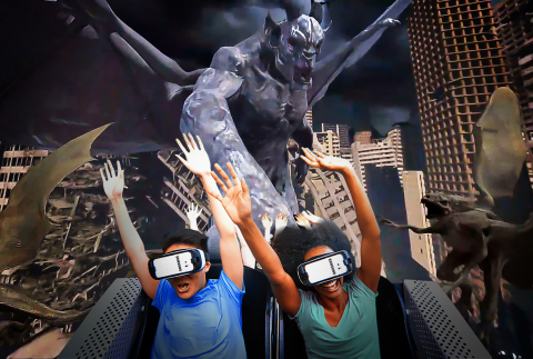 Battle monsters in this epic virtual reality coaster experience. (Photo: Business Wire)