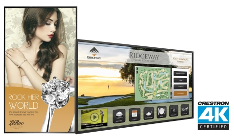 Planar UltraRes Series and Planar EP Series 4K LCD displays achieve Crestron 4K Certification (Photo: Business Wire)