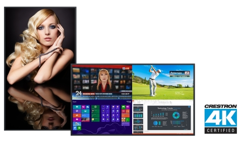 Planar large format 4K LCD displays earn prestigious Crestron 4K Certification (Photo: Business Wire)
