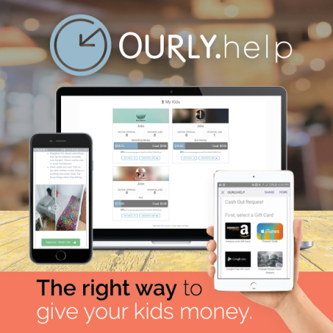 Ourly.help Launches Platform Digitalizing the Way Kids Learn, Earn and Save Money (Photo: Business Wire)