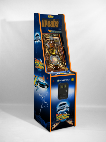 Wizard World has partnered with the Michael J. Fox Foundation for Parkinson's Research to auction off a custom-made, autographed BTTF pinball and arcade machine. (Photo: Business Wire)