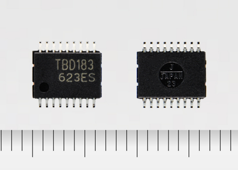 "Toshiba: a new transistor array ""TBD62183AFNG"" with output rating of 50V and 8ch sink output (Photo: ..."