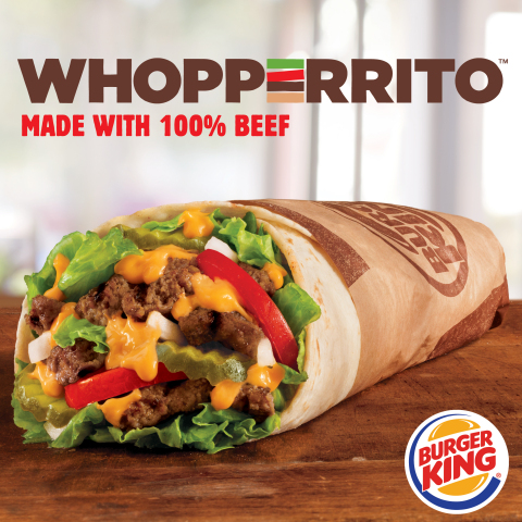 Part WHOPPER® Sandwich. Part Burrito. BURGER KING® Brand Launches Its WHOPPERRITO™ Nationally. (Phot ...