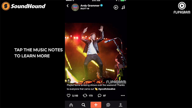 flipagram partners with soundhound to add any song you hear to your