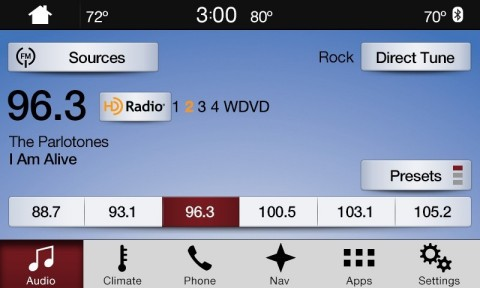 SYNC 3 featuring high-definition FM radio (Photo: Business Wire)