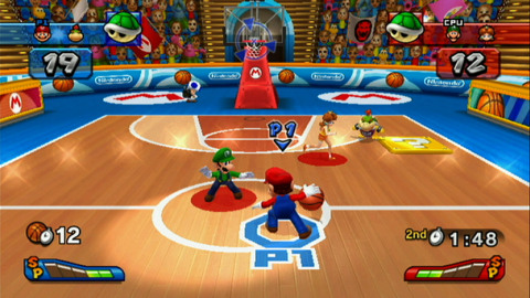 Mario Sports Mix presents four familiar sports - hockey, basketball, volleyball, dodgeball - but with a Mario twist. (Graphic: Business Wire)