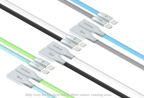 Just one ROMOSS RoLink Hybrid cable charges both iOS and Android devices with data transfer function ...