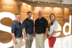 iSolved Executives stand together at their new Salt Lake City location. (From left to right) Chief Financial Officer, Shane Whittington; Chief Commercial Officer, John Vallely; Chief Executive Officer, Dave Dawson; Chief Marketing Officer, Trish Stromberg. (Photo: Business Wire)