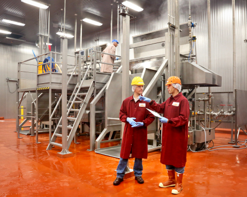 Labatt Food Service's new $28 million meat cooking facility in San Antonio can produce millions of pounds of barbacoa and smoked brisket, and steam more than 790,000 dozen tamales a year. (Photo by Joan Snow)