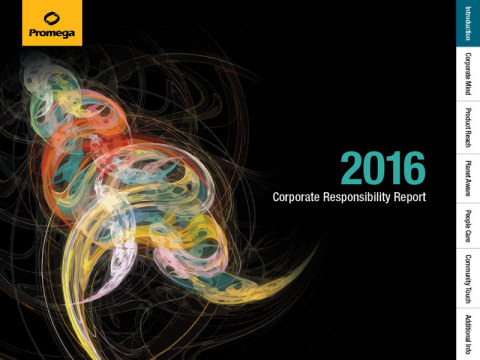 Promega 2016 Corporate Responsibility Report Highlights Initiatives Contributing to Purposeful Workp ...