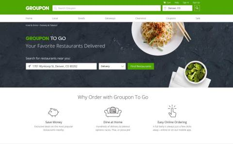 Groupon To Go is offering delivery for more than 100 Denver restaurants, including Cuba Cuba, Fat Ja ...