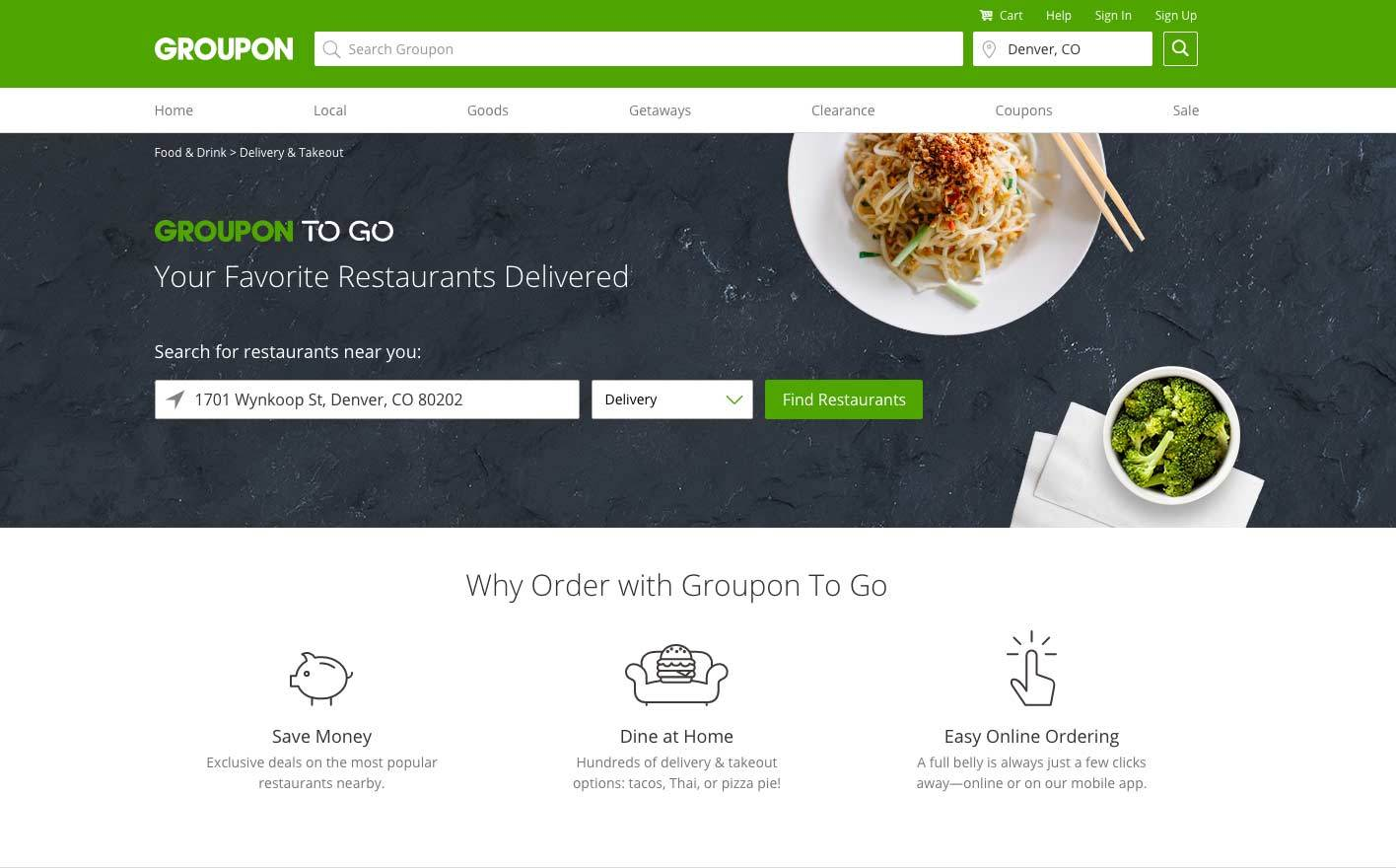 Groupon Dishes Out To Gotm On Demand Food Delivery From Top Denver Restaurants Business Wire